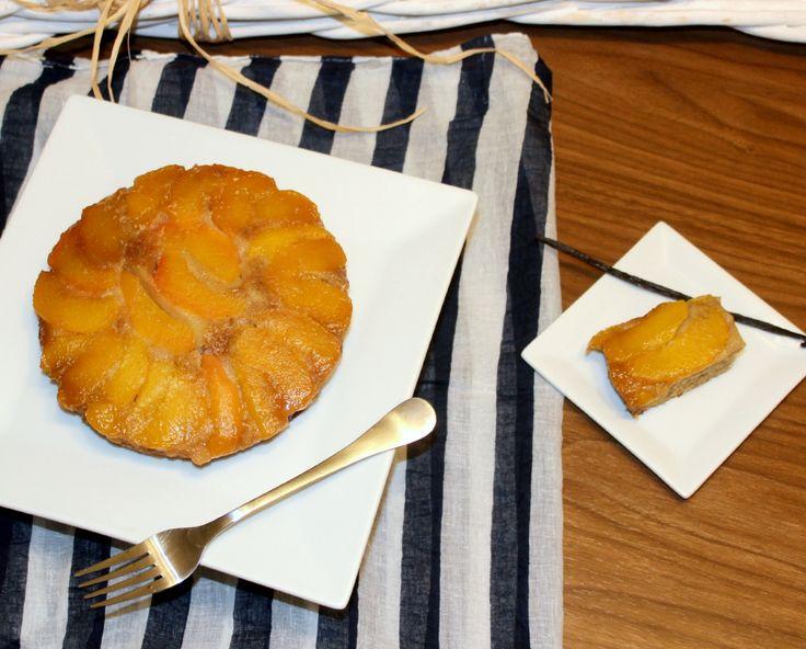 Tarta Invertida de melocotón - Limones Amarillos http://www.limonesamarillos.com/2014/06/tarta-invertida-melecoton.html