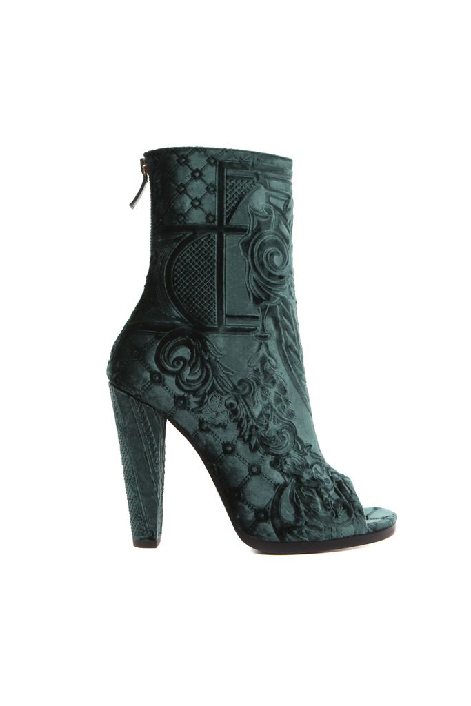 fall 2012, Balmain, shoes, high heels, boots + booties, green