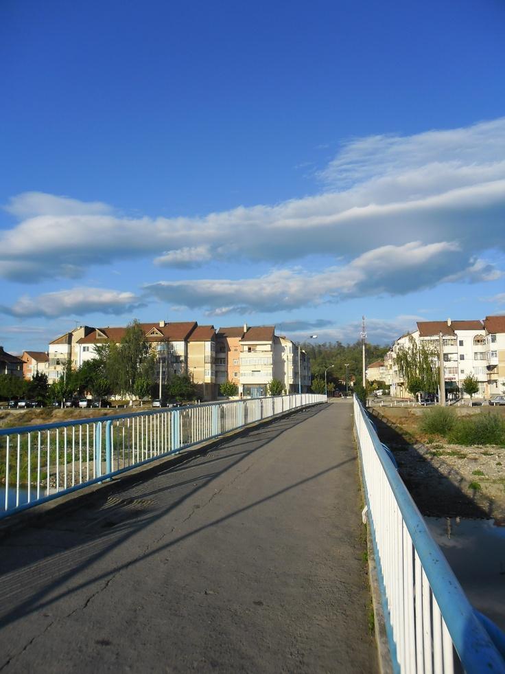 The Blue Bridge in Onesti , Bacau, Romania