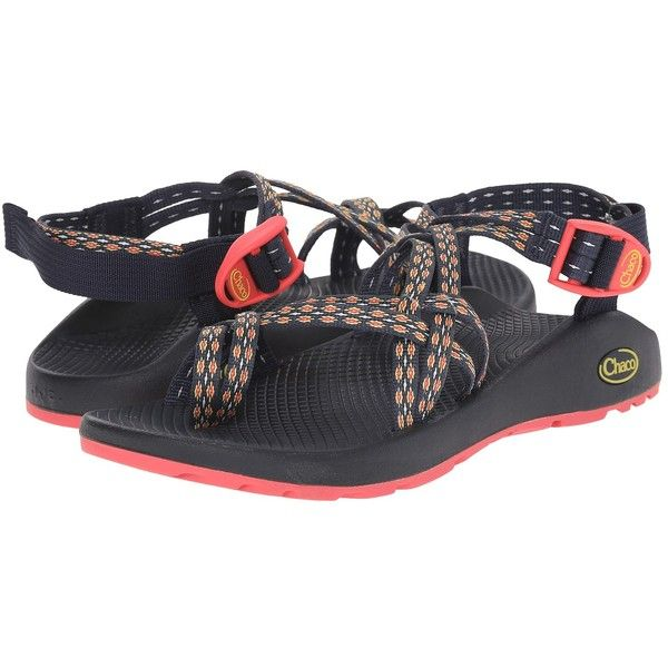 Chaco ZX/2 Classic (Crest Citrus) Women's Sandals ($105) ❤ liked on Polyvore featuring shoes, sandals, wrap around sandals, toe-ring sandals, chaco sandals, platform sandals and buckle shoes