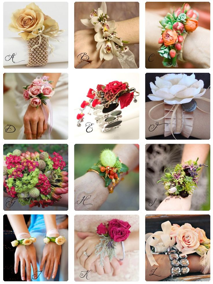 Corsages are making a big comeback. But they aren't just for wrists and lapels. Check out these shoulder, armband, neck, leg, shoe, ankle, and ring corsages