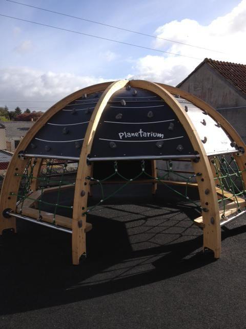 "play planetarium"" designed by a Cornish company - Science Play, St Dennis, for Truro school children."