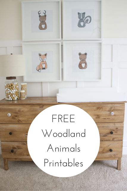 Free Baby Woodland Animal Printables. Link in site!