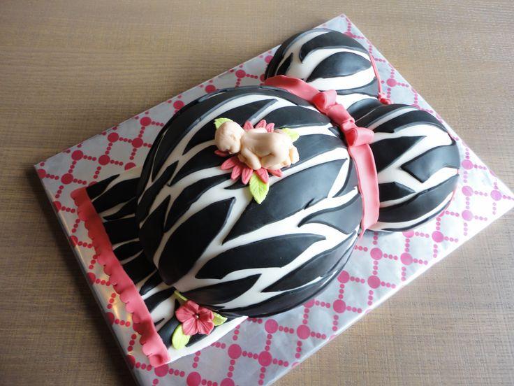 Zwangere buik taart Pregnant belly cake