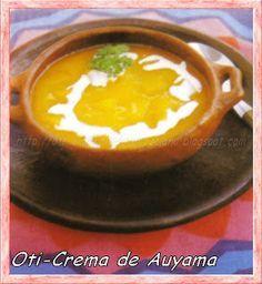 Oti- CREMA DE AUYAMA (Venezuela) http://oti-elmendiariovenezolano.blogspot.com/2007/10/crema-de-auyama-venezuela.html