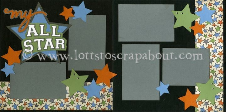 scrapbook layout for all star