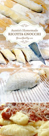 """This homemade ricotta gnocchi recipe is based the way my Italian Great Aunt Mary made it. Auntie didn't have a recipe, she expertly blended the ingredients until the dough """"felt"""" right. Over time with lots of practice and careful observation, I was able to nail down a basic recipe for ricotta gnocchi that brings back warm memories of Sunday dinners with my family."""