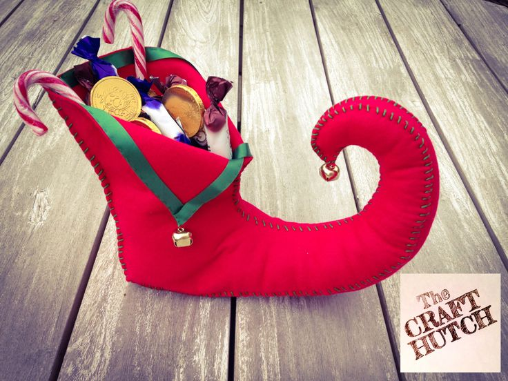 Christmas Decoration - Large Elf Shoe - pinned by pin4etsy.com