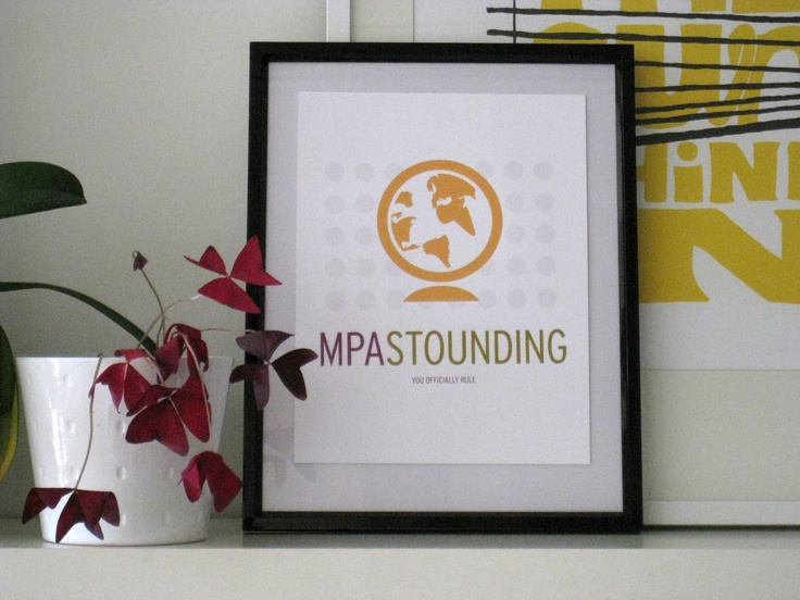 Master of Public Administration (MPA) Graduation Gift Print, by SomeoneCreative on Etsy