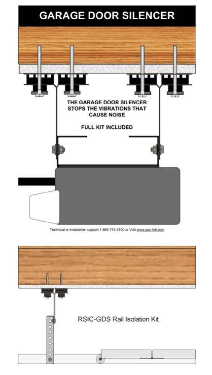 Garage Door Silencer   Sound Isolation Clips For The Isolation Of The  Garage Door Vibrations.