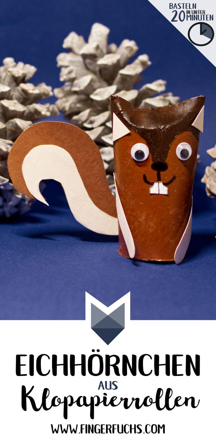 Eichhörnchen basteln – Einfach & schnell mit Kindern basteln