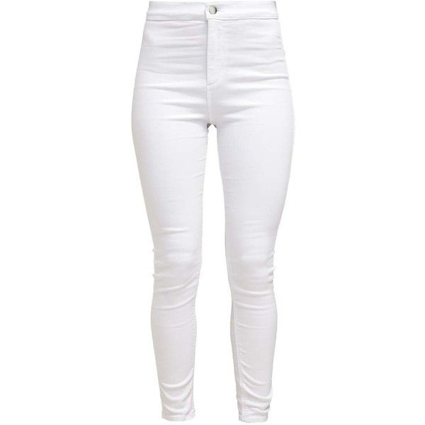 JONI Jeans Skinny Fit white (2,570 DOP) ❤ liked on Polyvore featuring jeans and pants