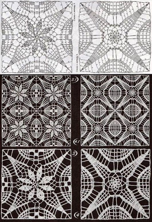KUFER z artystycznym rękodziełem : Motywy szydełkowe na kapy, obrusy, chusty, kilimy