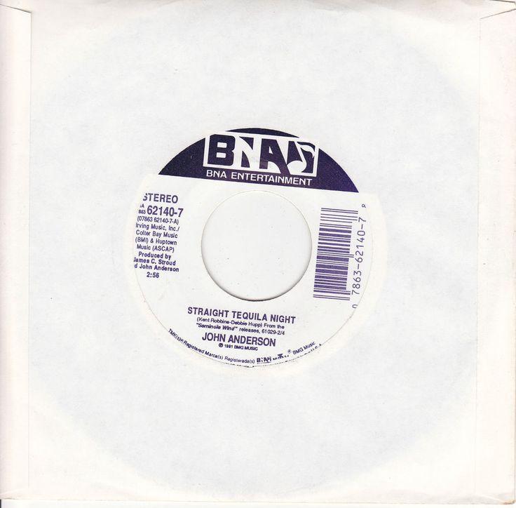 "John Anderson / Straight Tequila Night / Seminole Wind / 7"" Vinyl 45 RPM Jukebox Record #Country #Music"