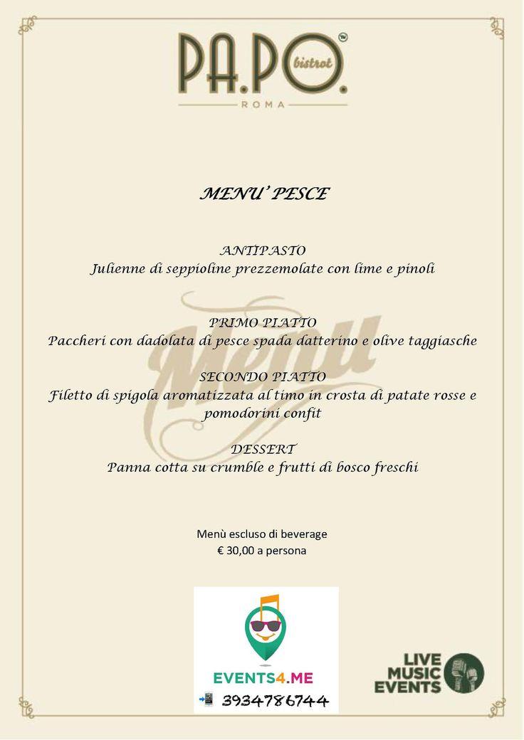 Art Cafe Estivo 2017 Roma disco esempio di menu . Ingresso su prenotazione al 3934786744 Events4me