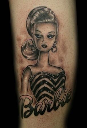 Vintage Barbie Tattoo