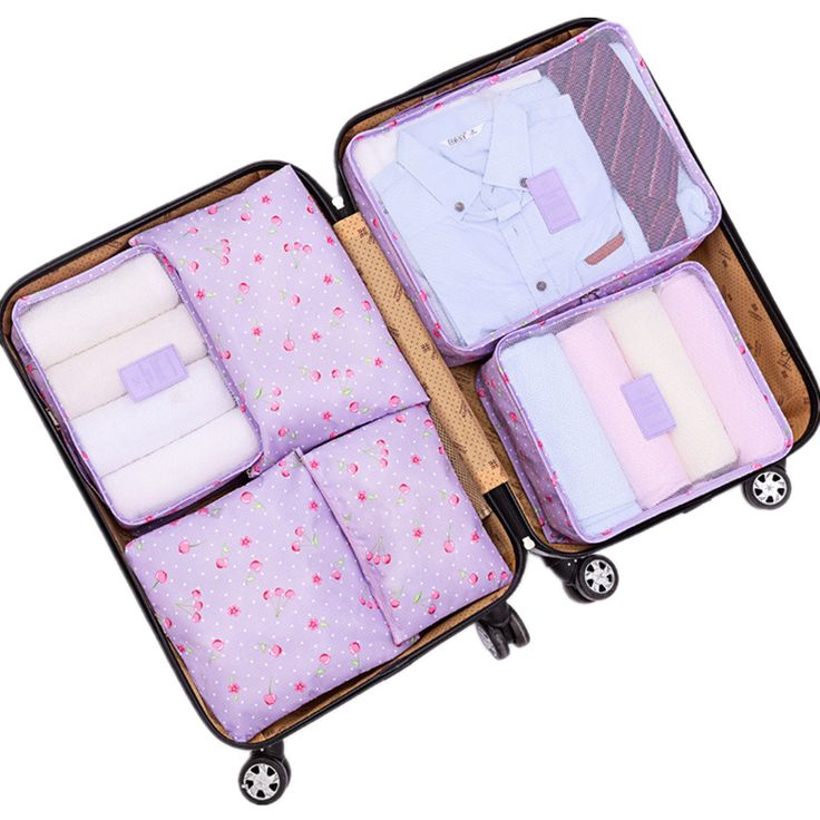 Nylon Packing Cube Travel Bag men women luggage 6 Pieces Set Large Capacity Bags Unisex Clothing travel bag organizer -- Check out this awesome product by clicking on the VISIT button