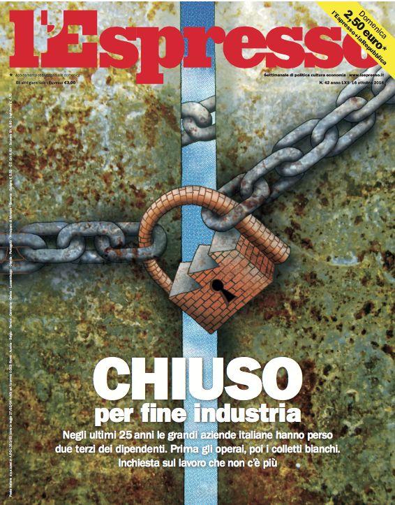 La copertina dell'Espresso in edicola da domenica 16 ottobre