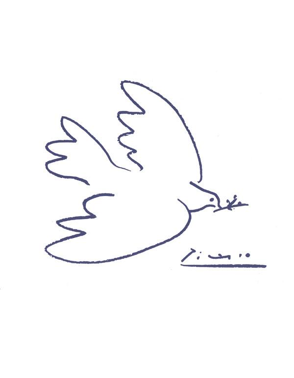 Picasso ~ Christmas dove