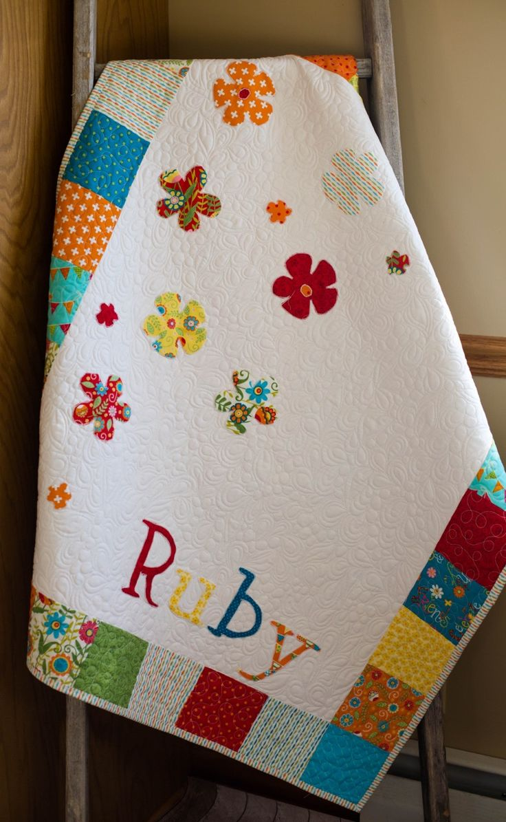 Get this Modern Baby Quilt customized especially for you and your baby's nursery!  Visit my Etsy shop and we can begin designing something especially for your little one!  www.etsy.com/shop/thequirkyquiltr