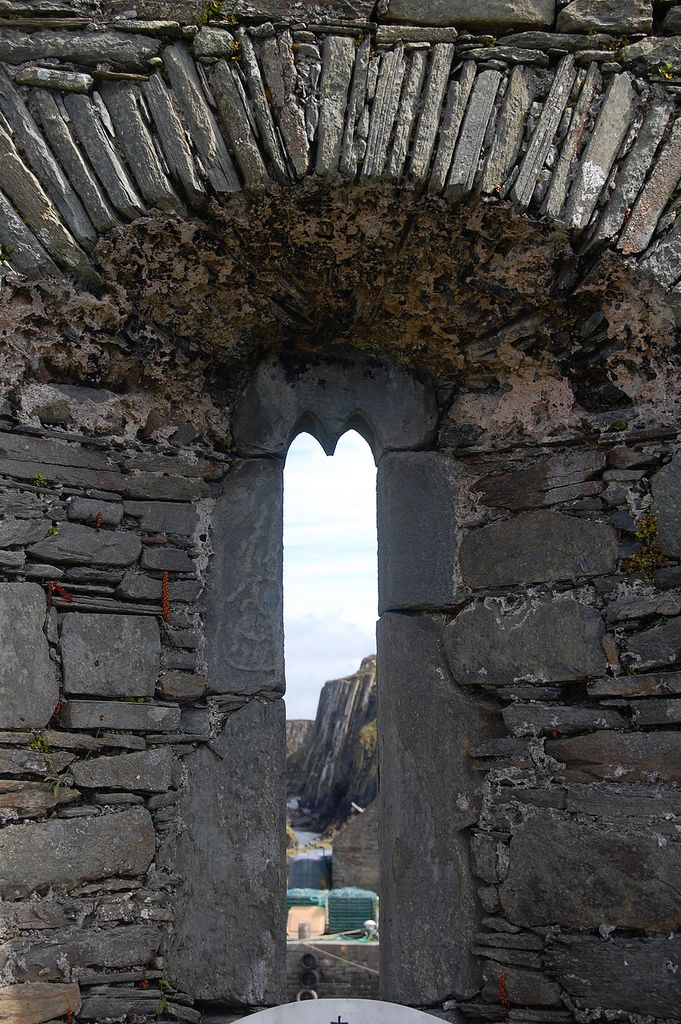 St. Ciarán's Church ruins at Clonmacnoise -County Cork, Ireland