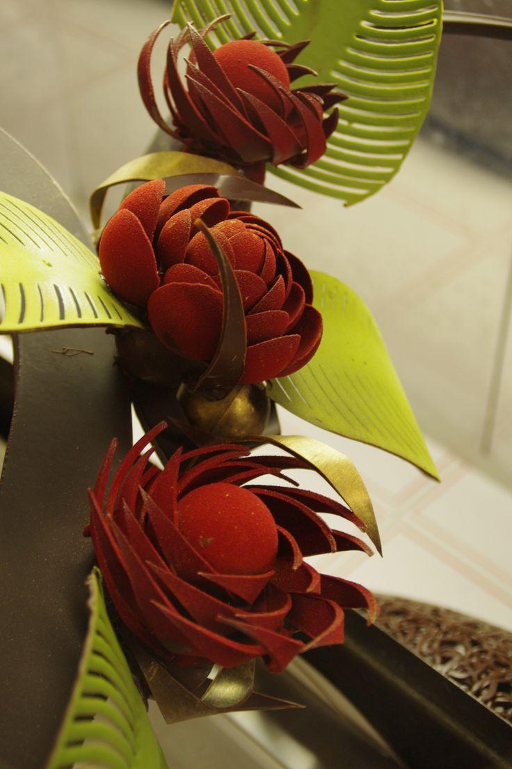 fleur en chocolat