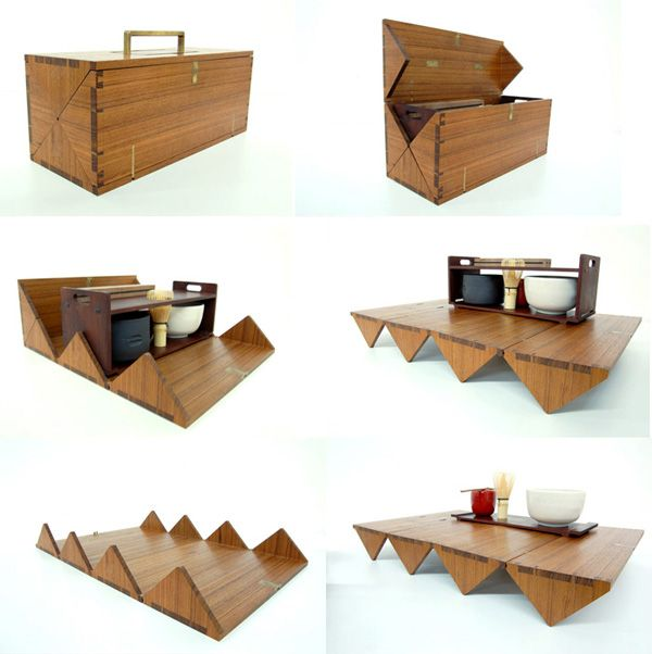 Convertible tea box. [: