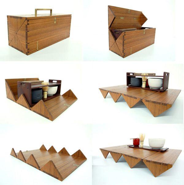 Convertible tea box. [: