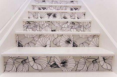 Wat een goed idee! Ook je trap kun je mooi versieren met fotobehang