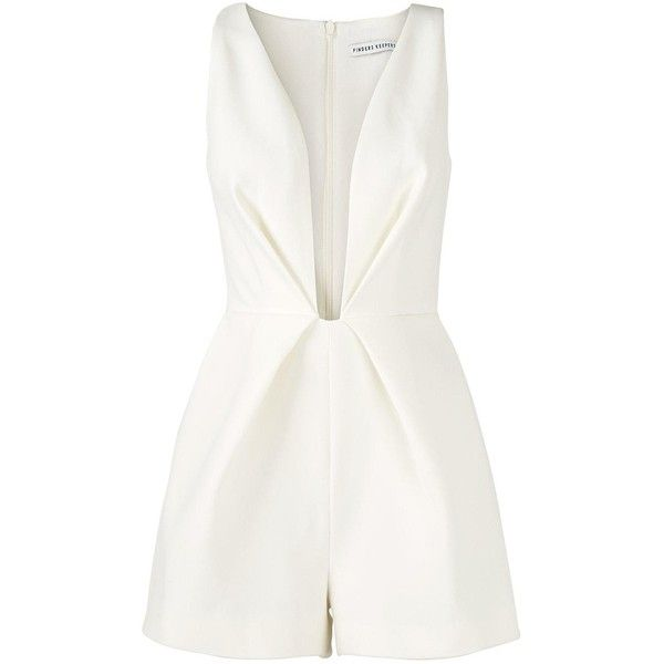 Finders Keepers The Creator Plunging Neckline Playsuit found on Polyvore
