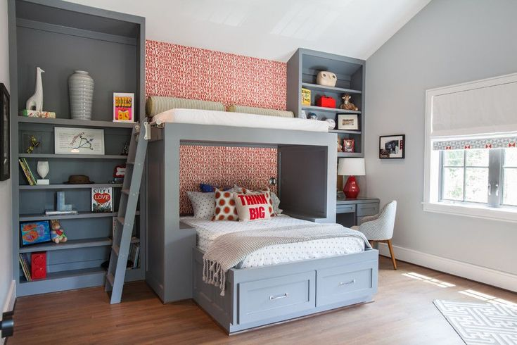 John Houston Custom Homes for a Transitional Kids with a Bunk Bed and Southern Americana by Laura U, Inc.