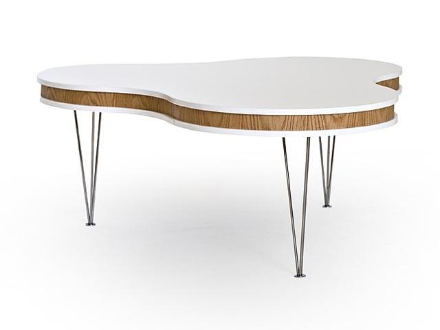 TREKLÖVER Soffbord Vit/Ek i gruppen Inomhus / Bord / Soffbord hos Furniturebox (100-13-14946)