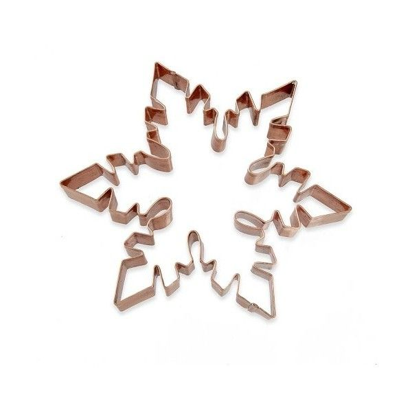 "Williams-Sonoma Williams Sonoma Copper 7"" Snowflake Cookie Cutter (180 EGP) ❤ liked on Polyvore featuring home, kitchen & dining, kitchen gadgets & tools, diagonal cutters, copper cutter, cookie cutters, angle cutter and snow flake cookie cutter"