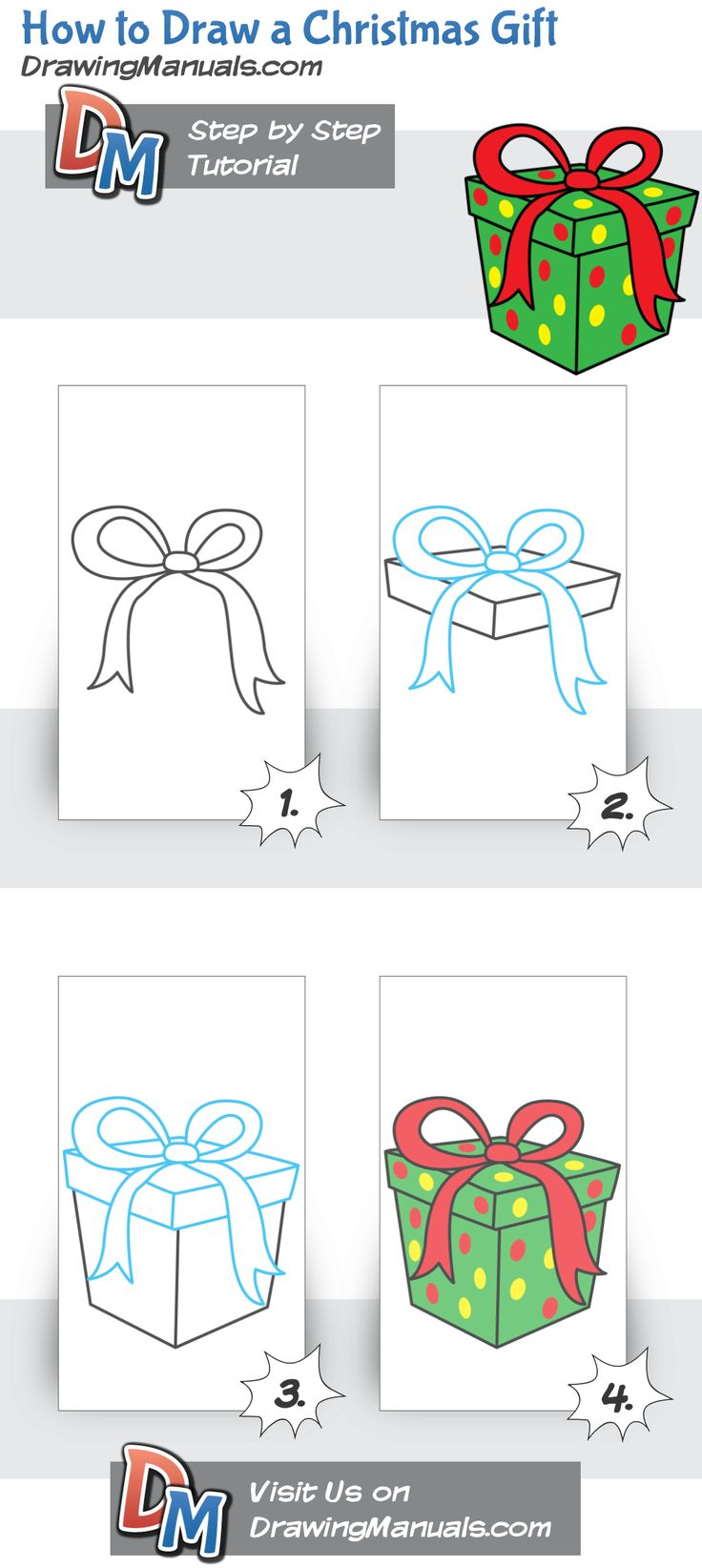 How to Draw a Christmas Gift, Present