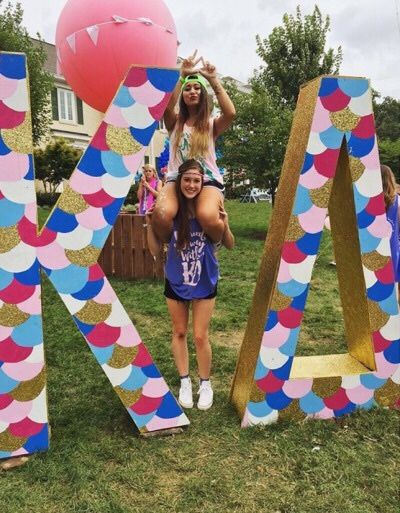 Giant Letters for bid day!