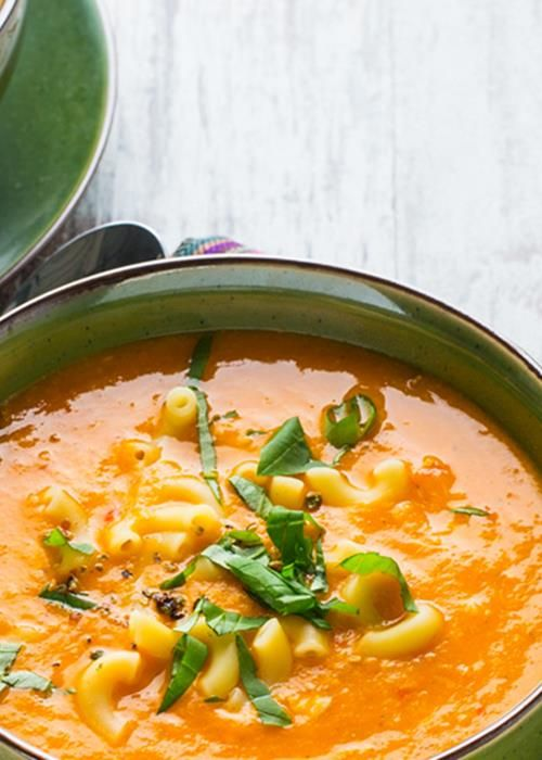 Sopa de Tomate com Batata Doce e Massinha