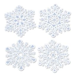 Decorated with silver encapsulated glitter (meaning it won't flake off) the Glitter Snowflake Cutouts are great for a Winter Wonderland dance or Winter Wonderland prom.