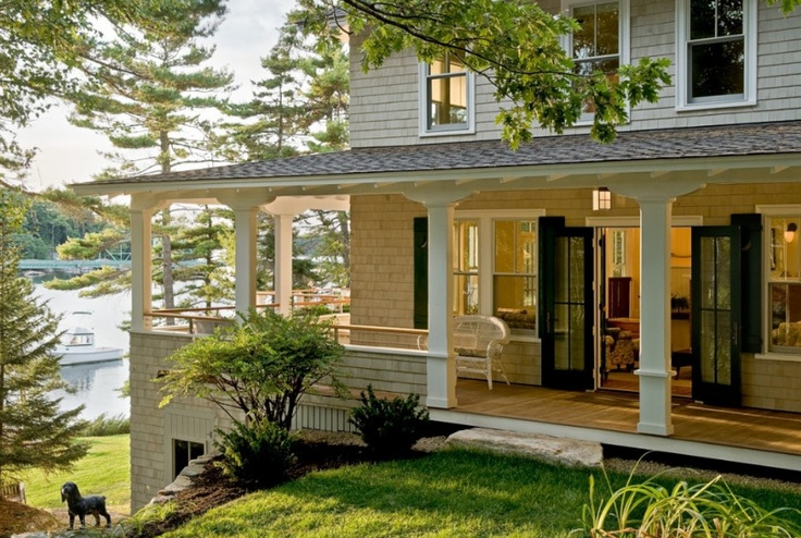 Open up front porch like this home porches pinterest Open porches