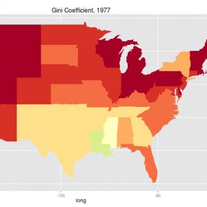 Inequality by State - Gini Coefficient