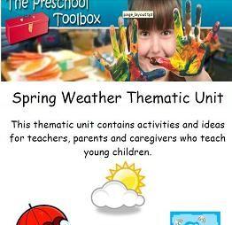 SPRING WEATHER THEME - The Preschool Toolbox Blog - #preschool #kindergarten