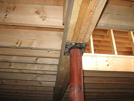 Beams The Beams Act To Support The Floor Joists These