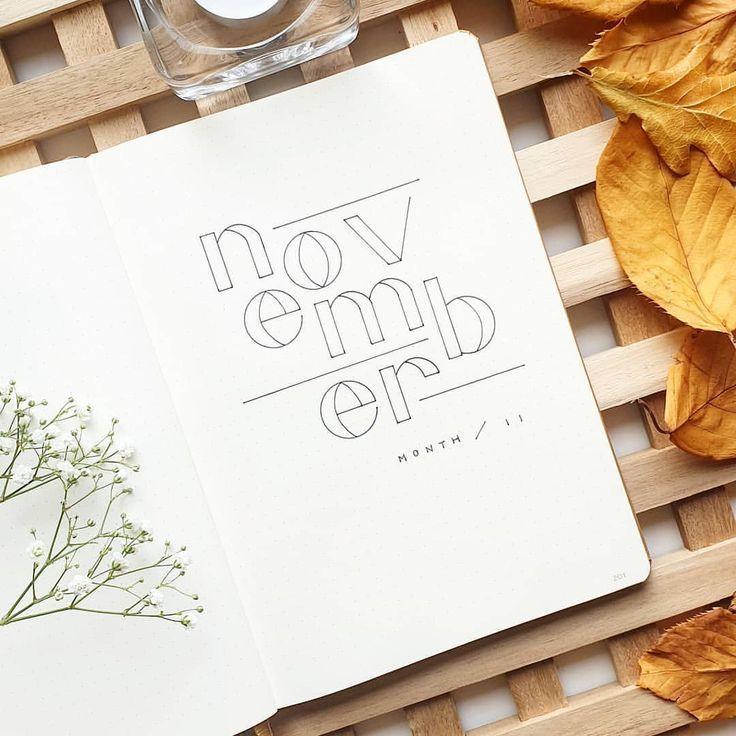 """Annie auf Instagram: """"Preparing for November in my bullet journal"""