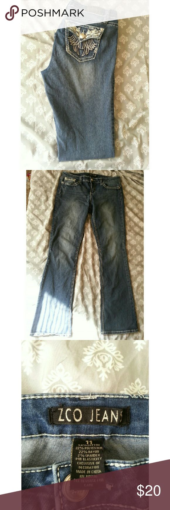 SALE!! ZCO Jeans These are a cute pair of jeans from ZCO Jeans! These jeans would be a great addition to your closet! These jeans are pre-owned, but are in great condition!  The Materials of these pair of jeans : 54% Cotton , 22% Polyester, 22 % Rayon, 2% Spandex  Feel free to make an offer!   // NO TRADES. // // Please don't advertise your closet. // ZCO Jeans