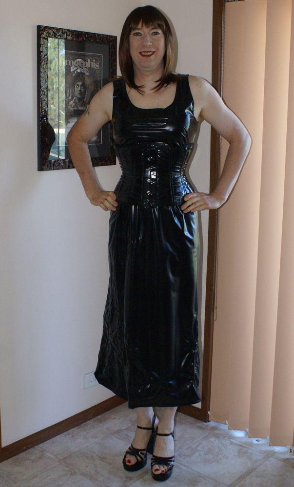 Unlined PVC dress with corset (Photo taken 3rd April 2015 ...