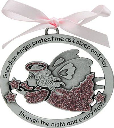 Cathedral Art CM16P Pink Angel Crib Medal for Jewelry Making, 2-1/2 by 2-Inch