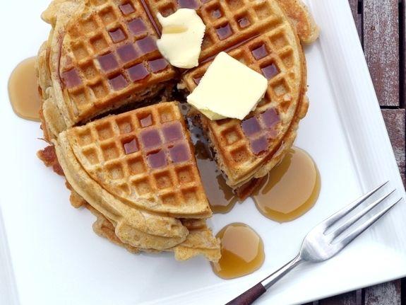 Brown Butter-Pumpkin Pie Spiced Belgian Waffles