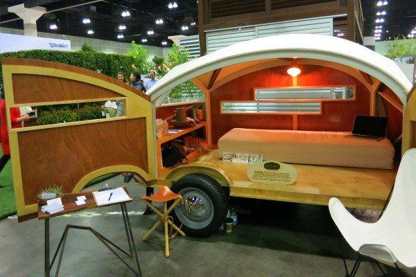 The h tte hut teardrop caravan portable camper is for Teardrop camper kitchen ideas