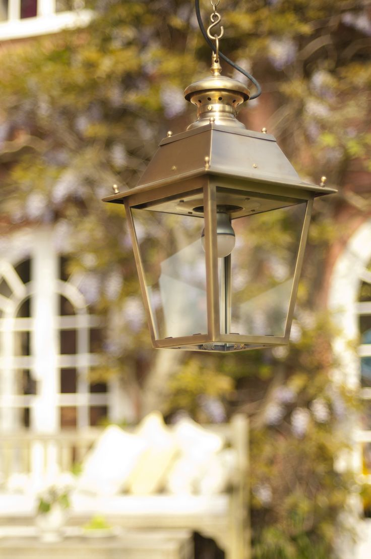 Our #statement #outdoor #lantern is available in standard or large. It is made from #solid #brass.