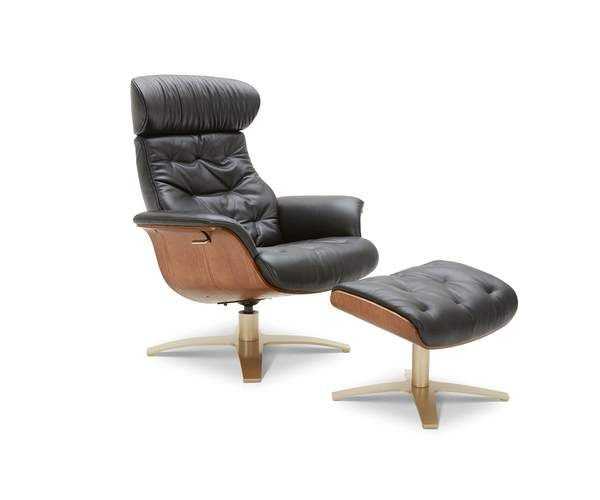 Anselmo Leather Recliner Ottoman In 2020 Leather Recliner