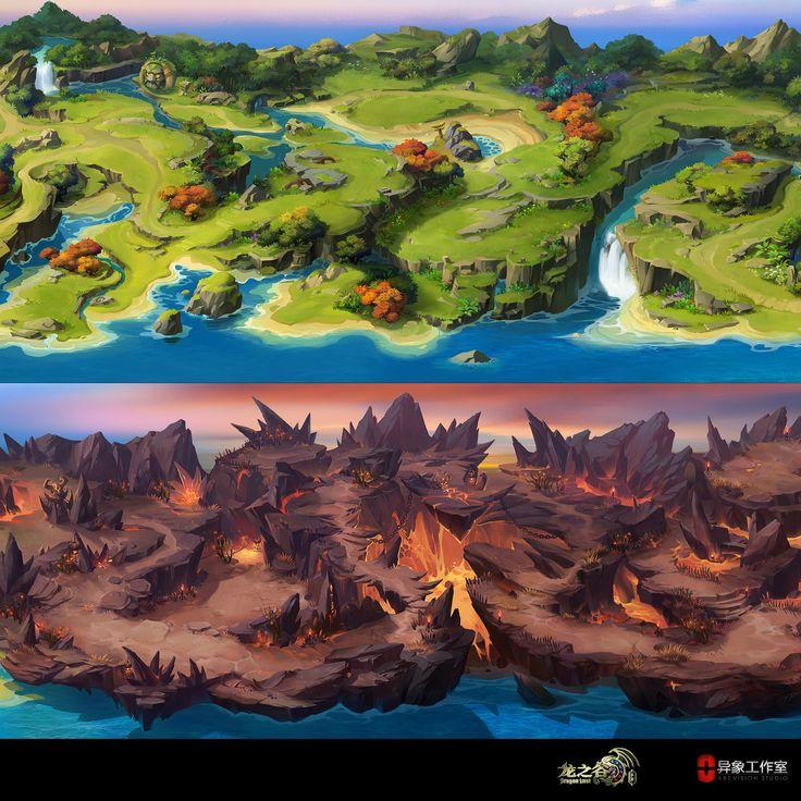 Dragon Nest (ios) Big level Map, Dawnpu at Art vision studio on ArtStation at https://www.artstation.com/artwork/5a20z
